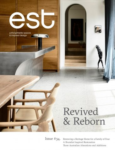 Exclusively featured in Est Living, Issue 34